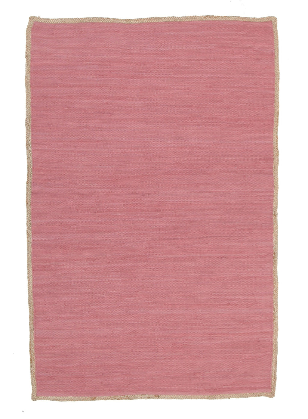 Melilla Pink Cotton & Natural Jute Rug