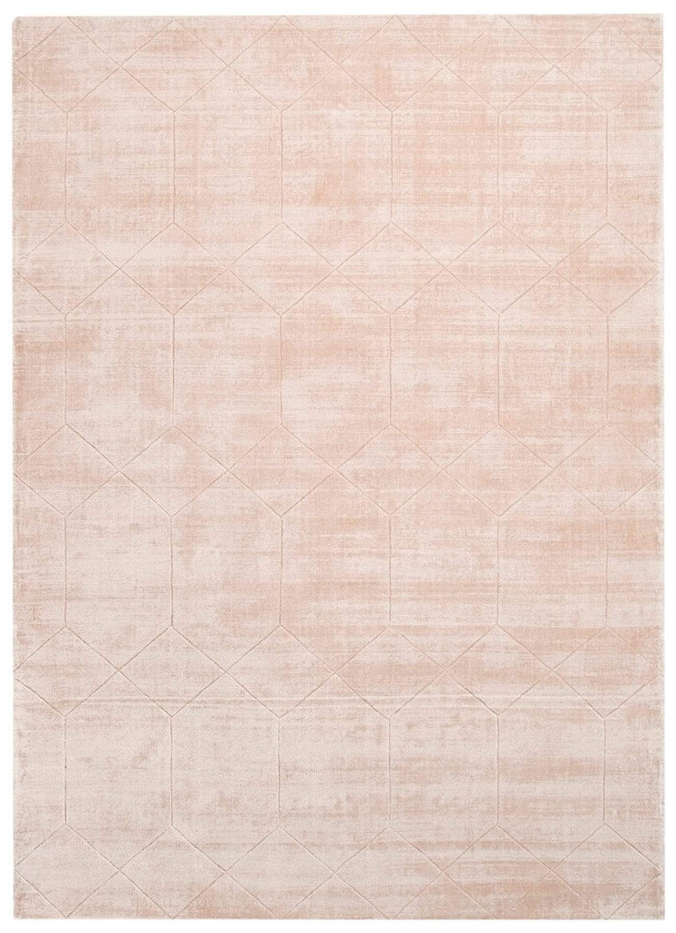 Melinda Blush Peach Geometric Viscose Rug