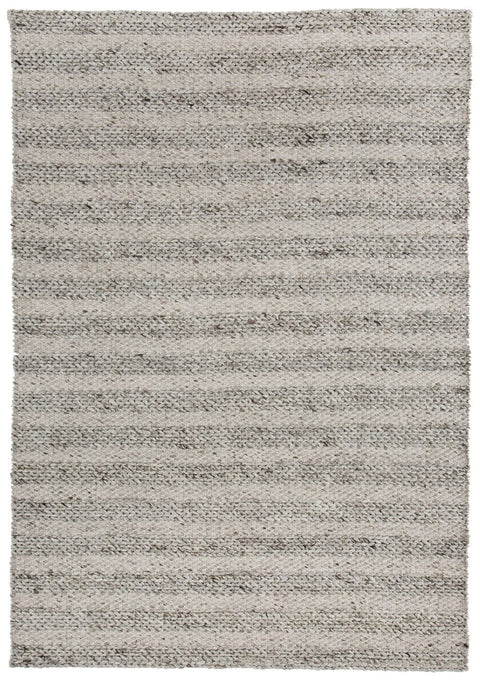 Mila Marbled Grey Braided Rug