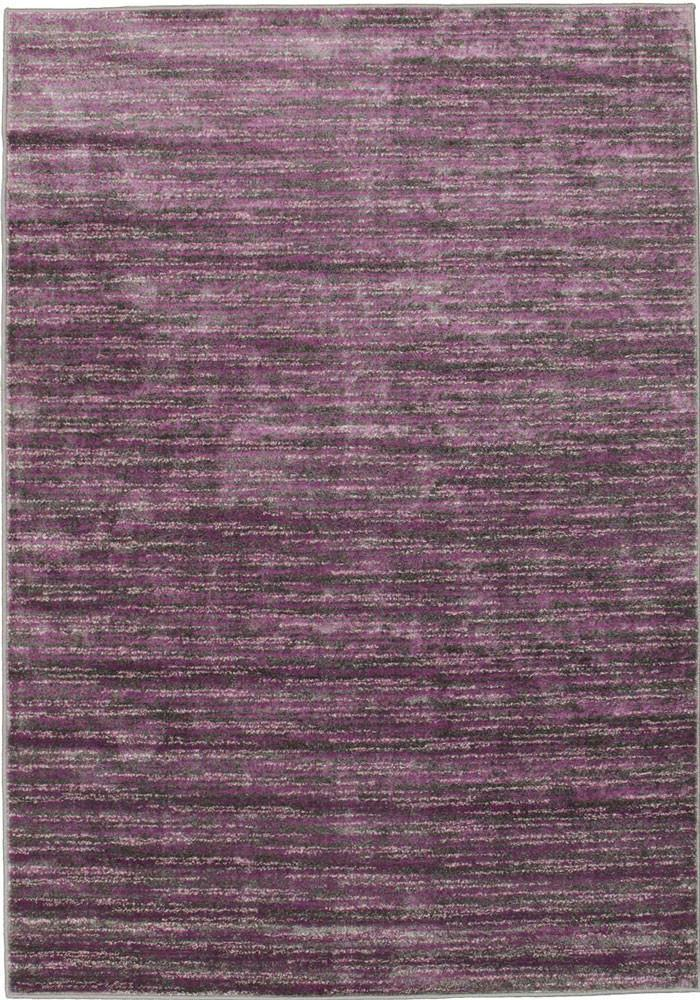 Mostar Aubergine & Charcoal Striped Rug