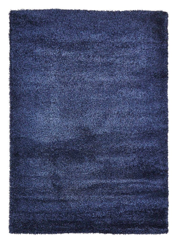 Nashville Denim Blue Shag Rug