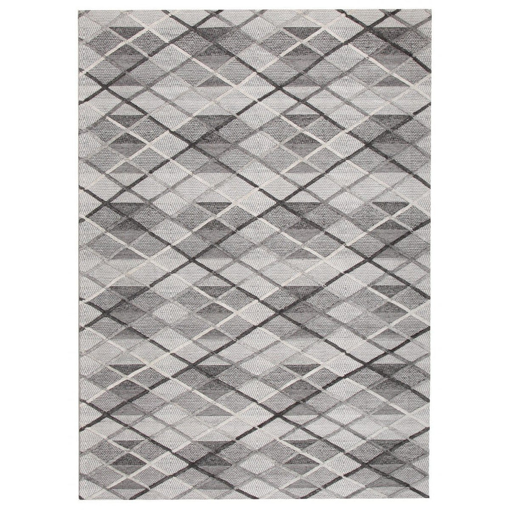 Norwalk Charcoal & Silver Grey Diamond Plaid Rug