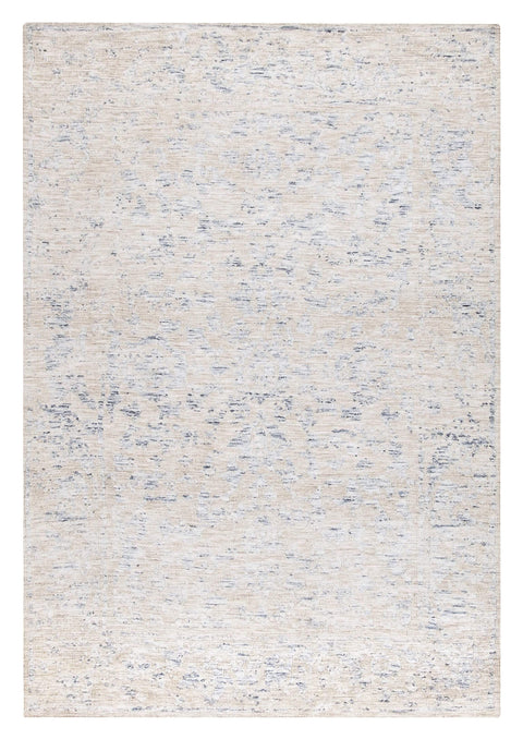 Oriana Blue Ivory and Beige Floral Transitional Rug