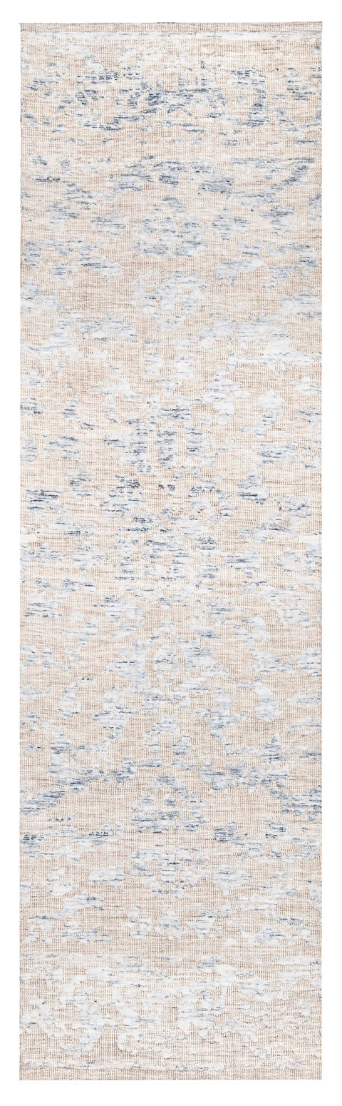Oriana Blue Ivory and Beige Floral Transitional Runner Rug