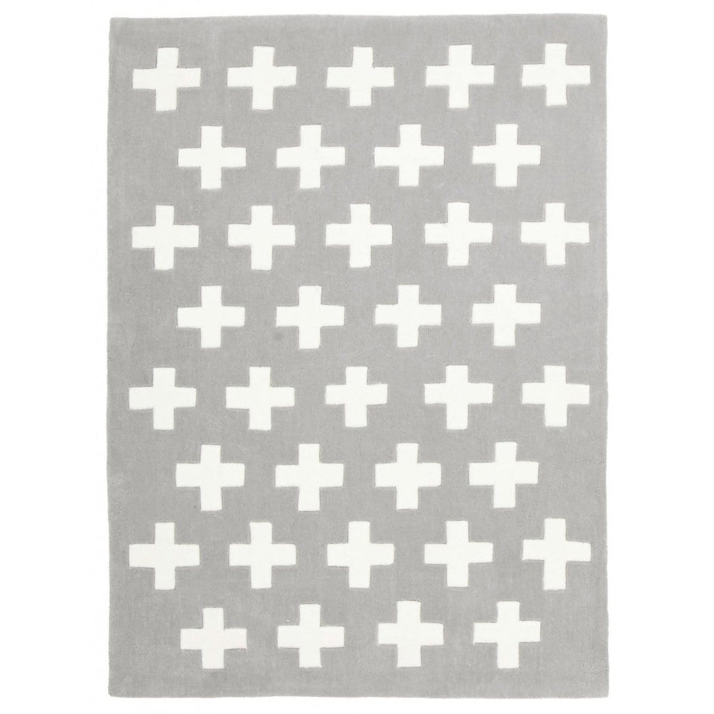 Paddington Crosses Grey Kids Rug