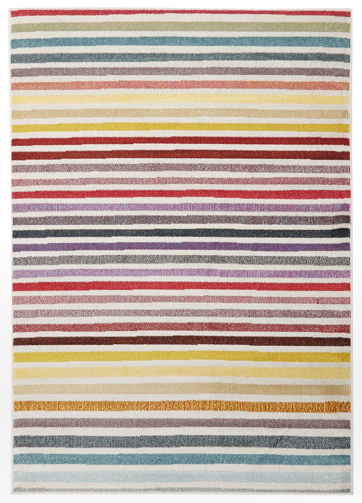 Palermo Multi-Colour Bright Stripe Rug
