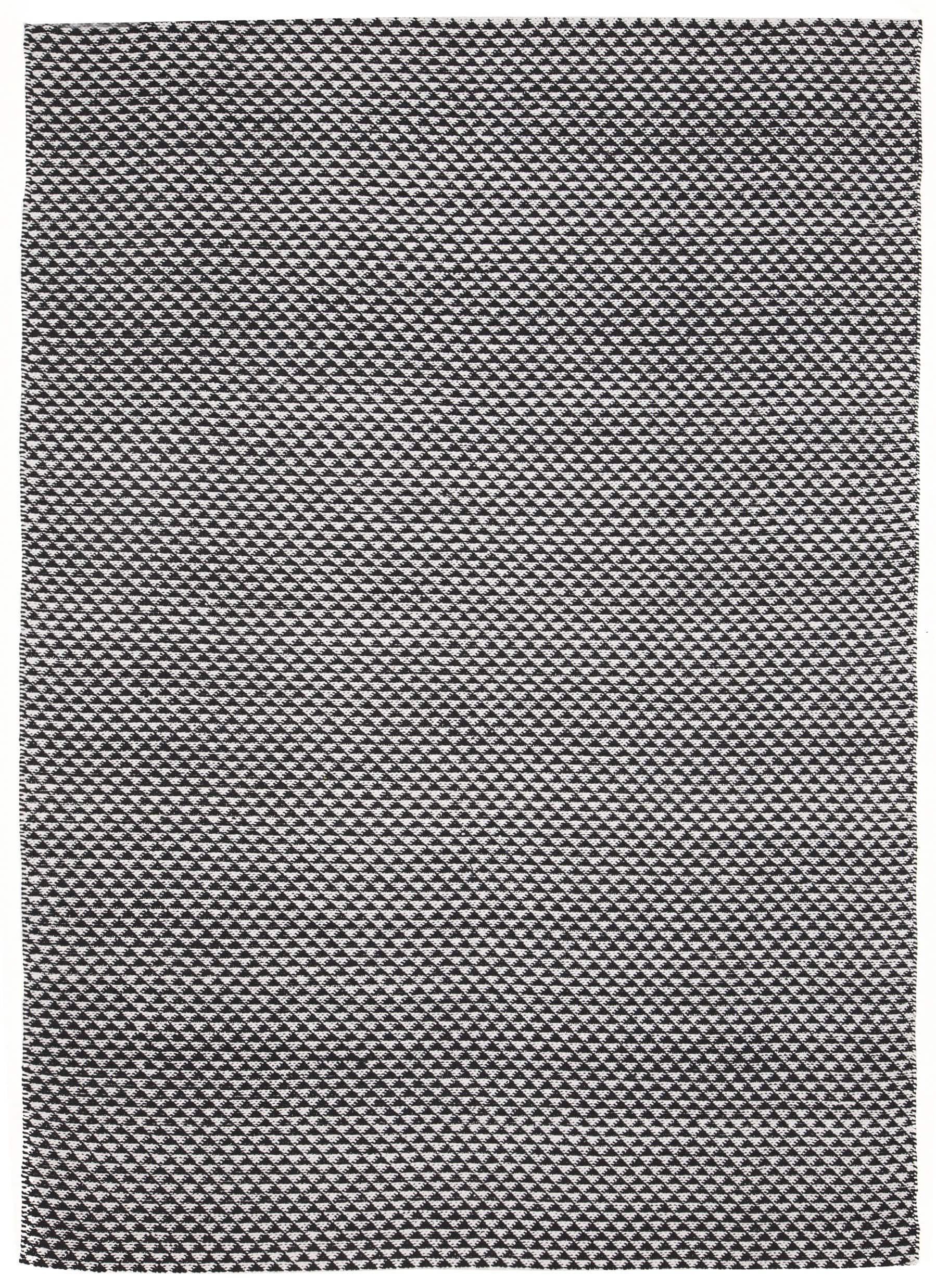 Quebec Black Amp White Mosaic Triangle Rug