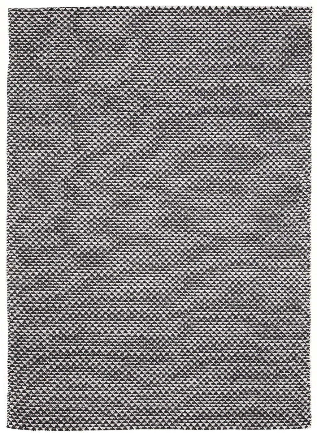 Quebec Black & White Mosaic Triangle Rug
