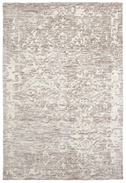 Quinn Grey Ivory and Cream Floral Motif Rug