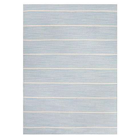 Reims Powder Blue Wool Flatweave Rug
