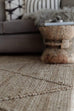 Sabra Diamond Lattice Jute Rug