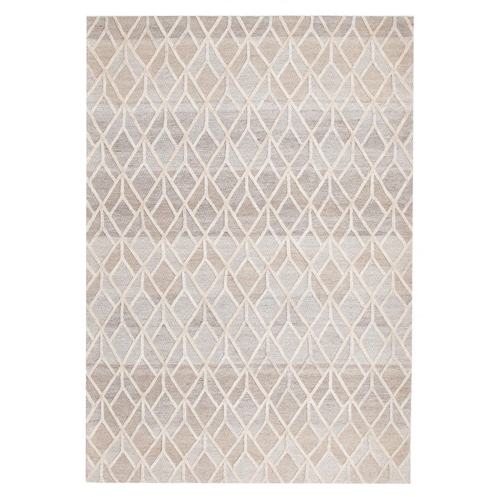 Savannah Geometric Textured Hand-Loomed Rug