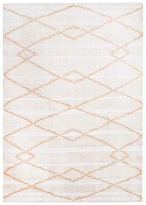 Shona Ivory and Peach Tribal PET Rug