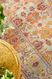 Sohag Orange Multi Colour Traditional Distressed Medallion Runner Rug