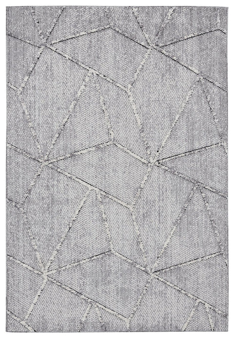 Soraya Blue Grey Abstract Textured Rug