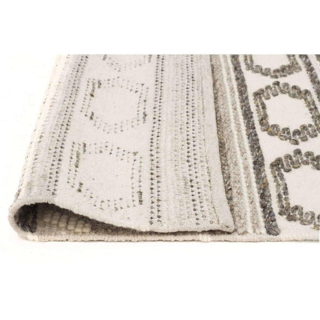 Tequesta Ivory Amp Grey Textured Tribal Rug