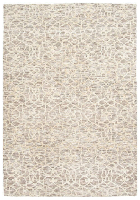 Tori Cream Brown and Ivory Textured Tribal Rug