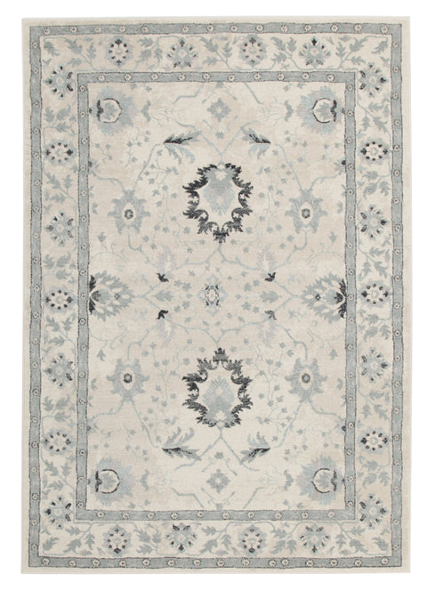 Tromso Ivory & Grey Modern Transitional Rug