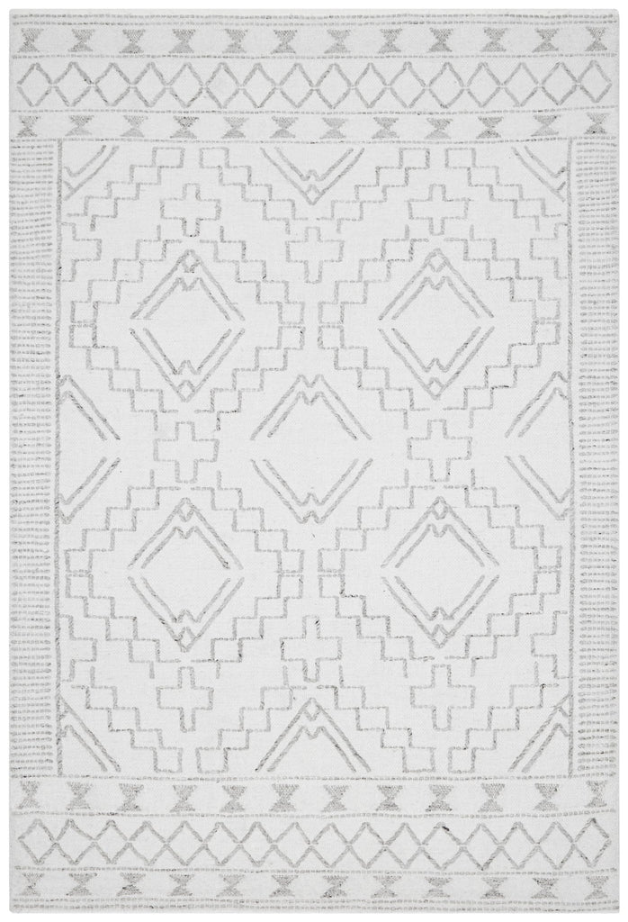 Vail Ivory and Grey Tribal Pattern Rug