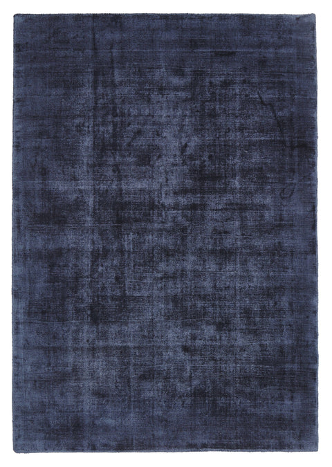 Valdez Navy Blue Distressed Viscose Rug