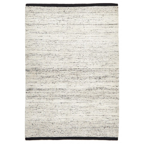 Vantaa Off-White With Black Chevron Wool & Viscose Rug