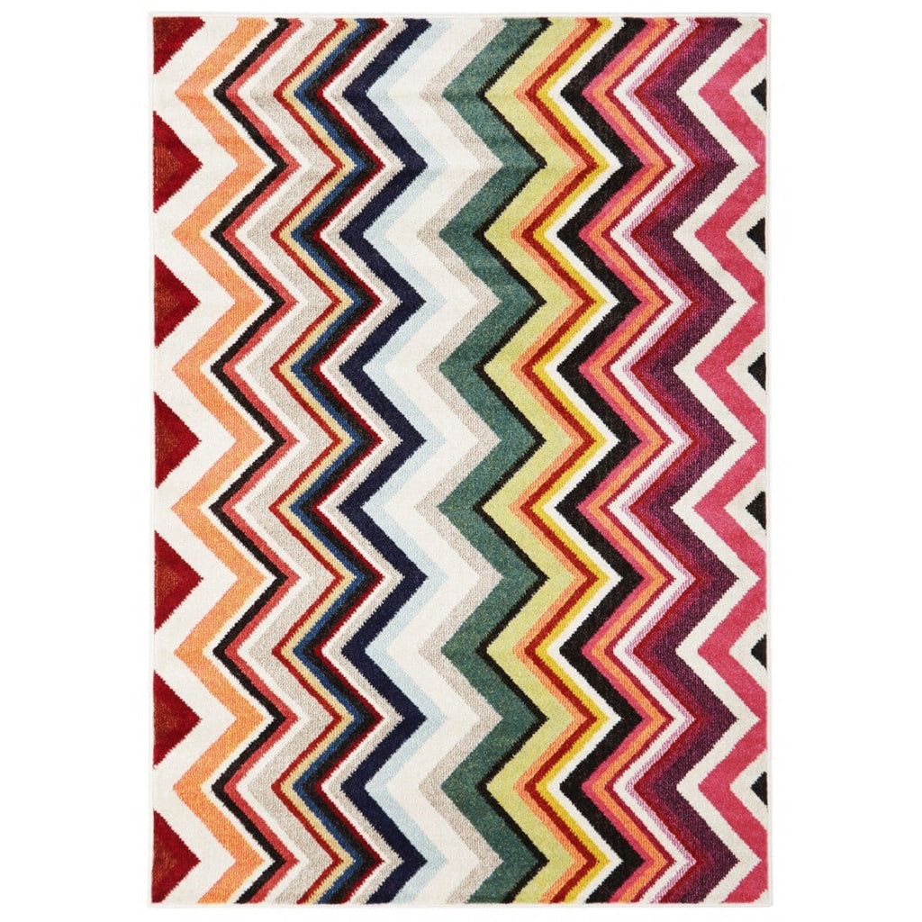 Varese Multi-Colour Chevron Rug