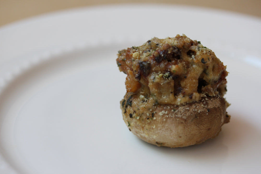 Italian Nut Crumbs Stuffed Mushrooms
