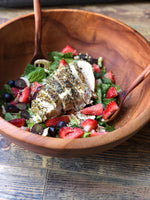 Italian Nut Crumbs Spring Strawberry Salad