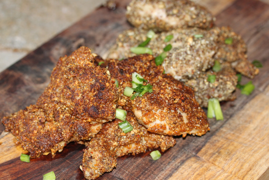 Nut Crumbs Encrusted Chicken