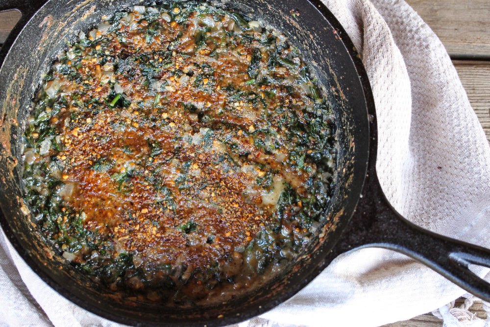 Steakhouse Creamed BBQ Spinach
