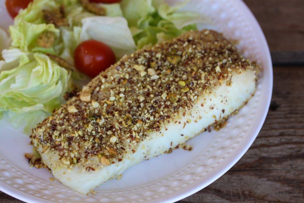 Lemon Pepper Baked Halibut
