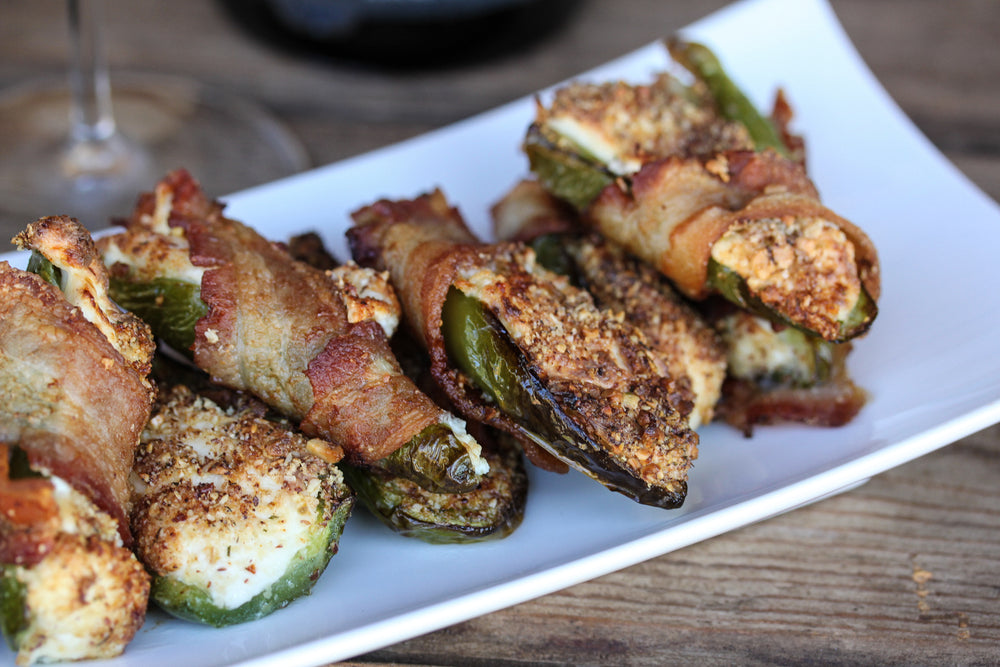 Bacon Wrapped Ranch Stuffed Jalapeños