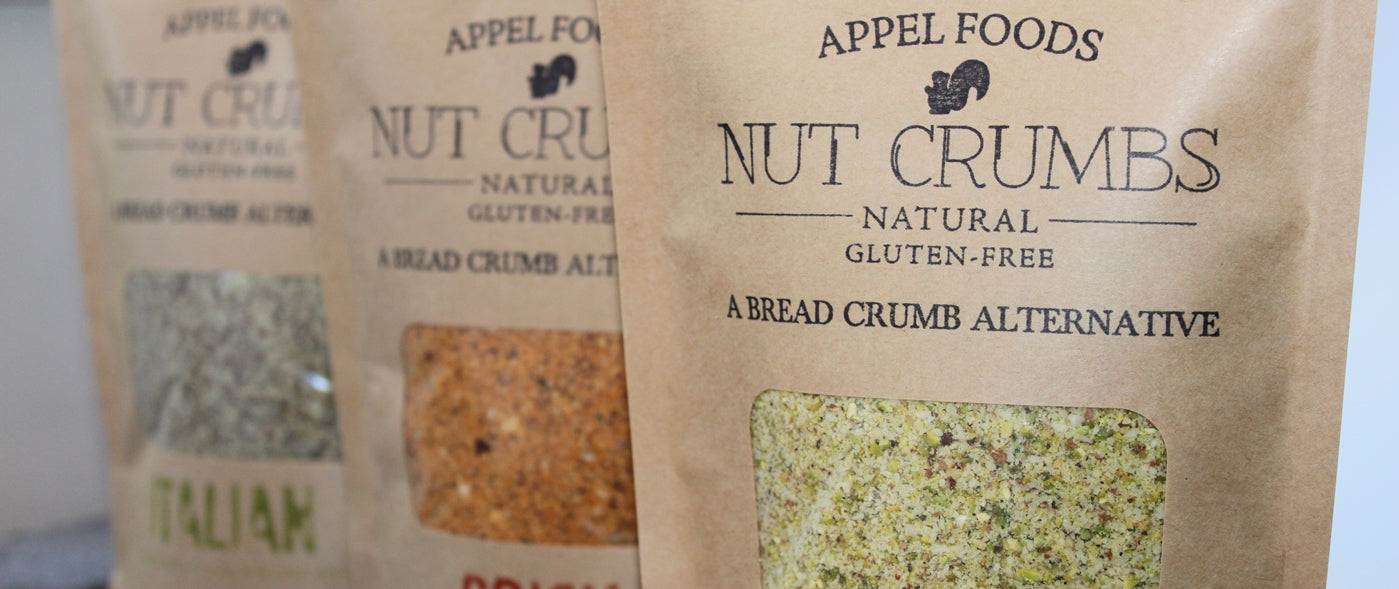 Appel Foods - Nut Crumbs - Bread Crumb Alternative - Gluten Free - Sugar Free - Low Carb - Low Sodium - Raw, Premium Nuts, keto, paleo, vegan