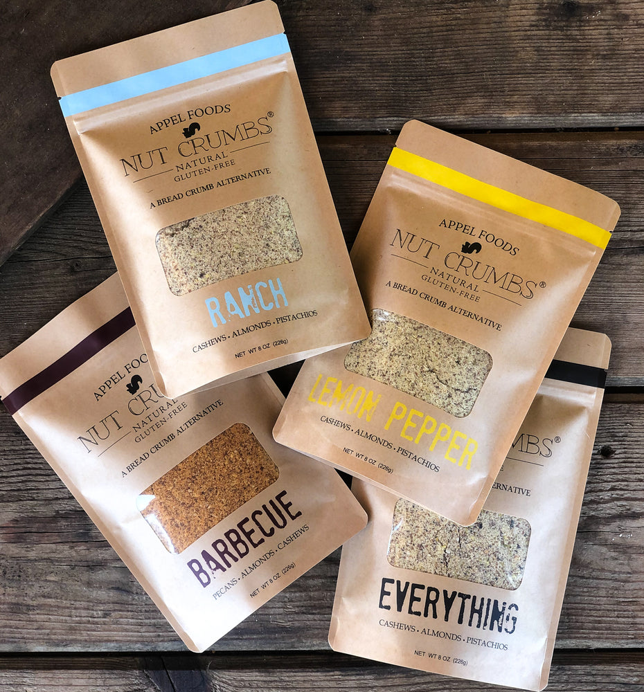 Ranch, Lemon Pepper, Everything, and Barbecue Variety Pack - Nut Crumbs