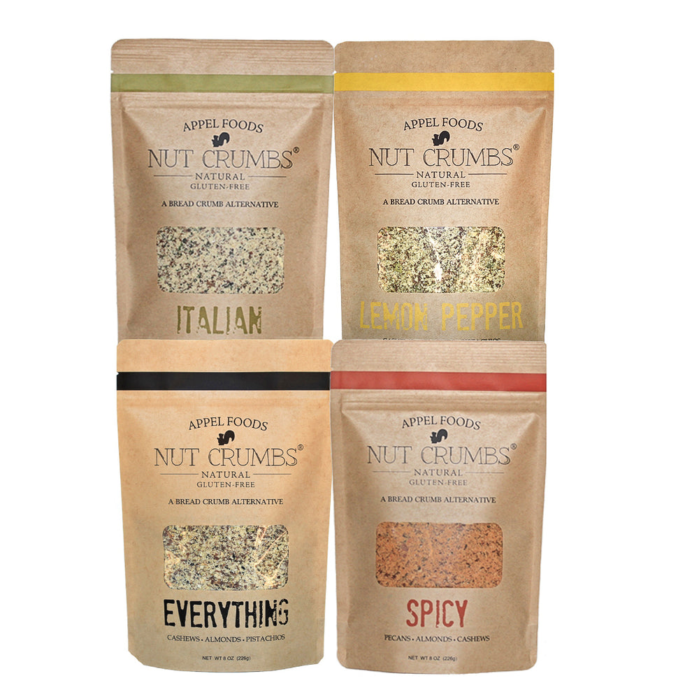 Flavor Packed Variety Pack - Italian, Lemon Pepper, Everything, & Spicy - Nut Crumbs