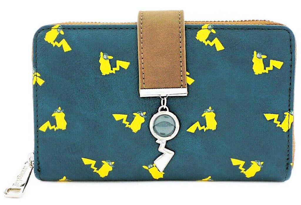 Loungefly Pokemon - Detective Pikachu - AOP Bi-Fold Wallet with Charm