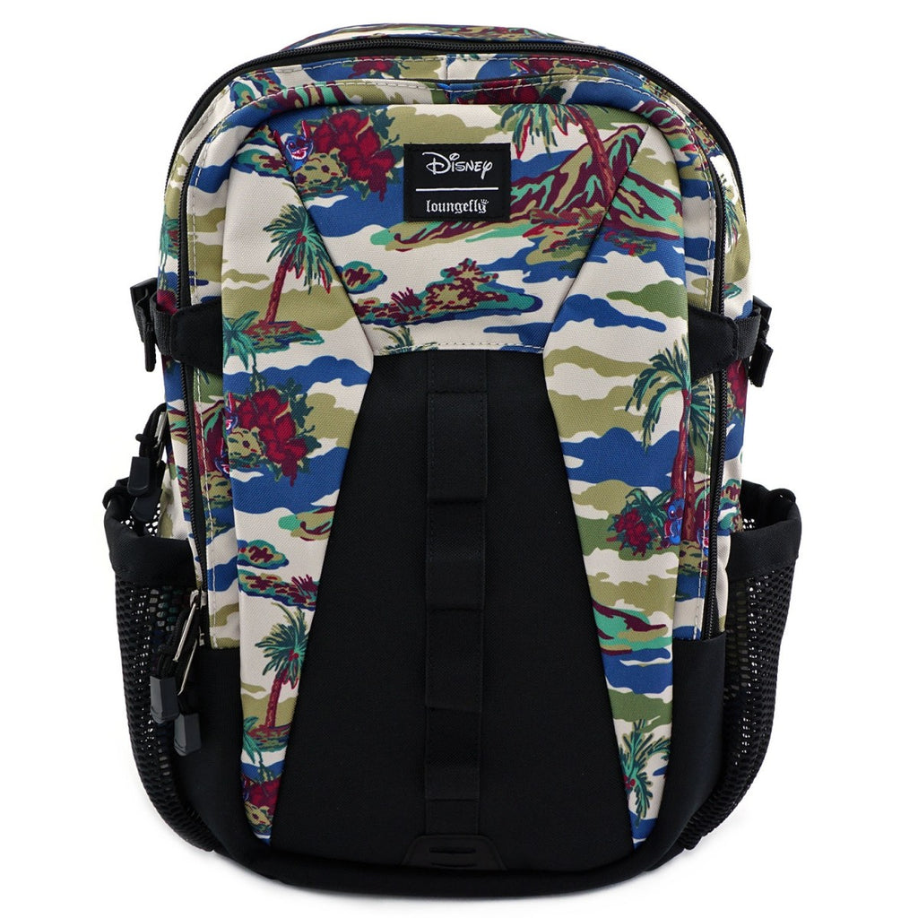 Loungefly x Lilo and Stitch Camo Nylon Full Size Backpack with Pockets