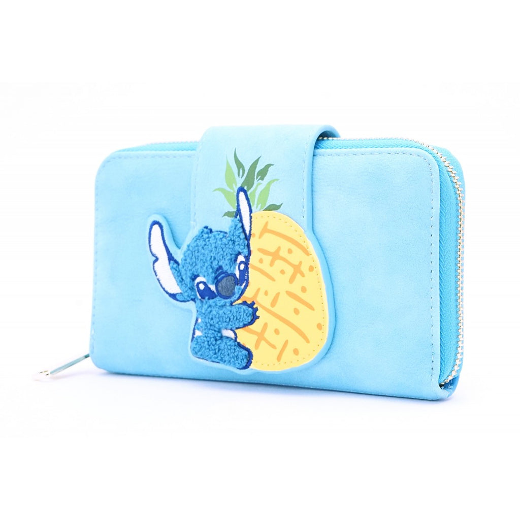 Loungefly by Disney - Lilo and Stitch - Stitch Pineapple Chenille Snap Wallet