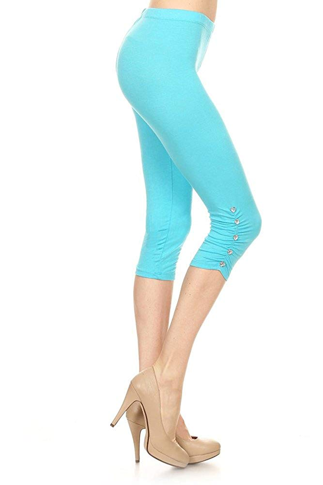 Women's Soft Leggings with Heart Jewelry (Assorted Colors)