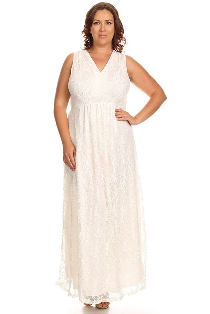c8ffb696ad Swak Designs Plus Size Lace Maxi Dress with Empire Waist | Lavie ...