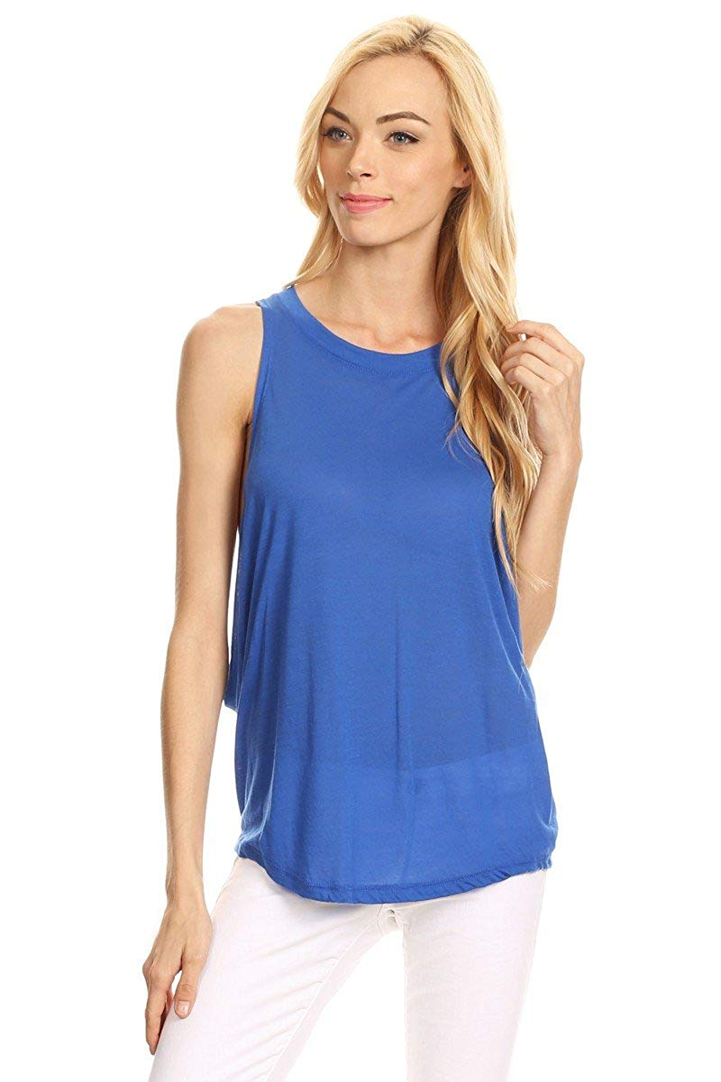 Ambiance Apparel Solid Jersey Knit Tank Top