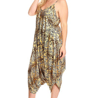 Canari Plus Size Sleeveless Looses Fitting Harem Jumpsuit