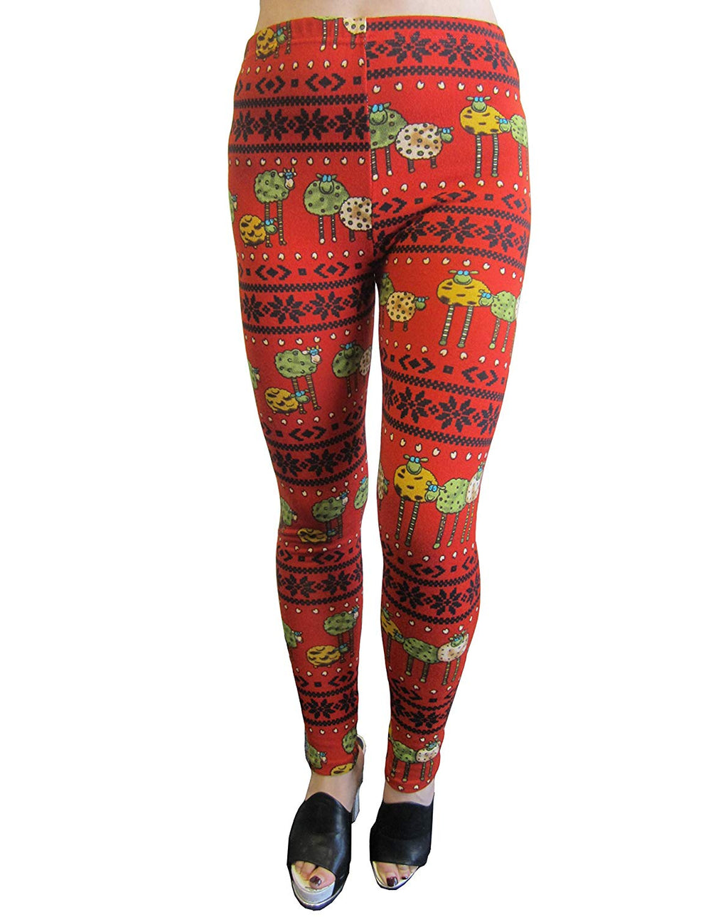 Fabric & Fabric Junior One Size Holiday Printed Leggings (Fab-13818)