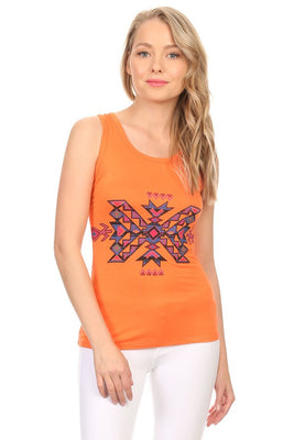 Tribal Graphic Print Tank Top