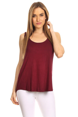 Textured Burgundy Tank Top