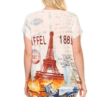 Plus Size Short Sleeve Shirt Print 15
