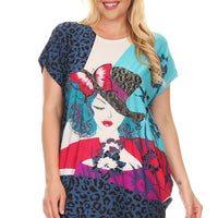 Plus Size Short Sleeve Shirt Print 23