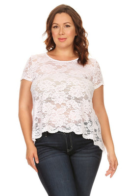 Lace Plus Size Top