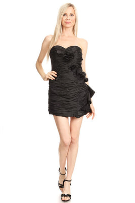 Black Strapless Sheath Dress