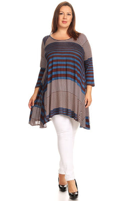 Striped Tunic Top Long Sleeve